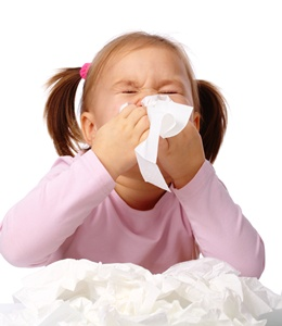 copil cu alergie