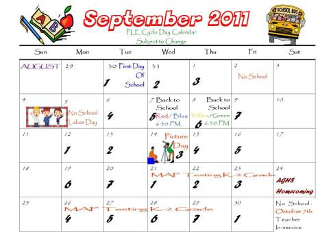 Calendar copil