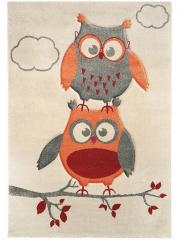 Covoare pentru copii » Sintetic » Owls & Clouds Gri